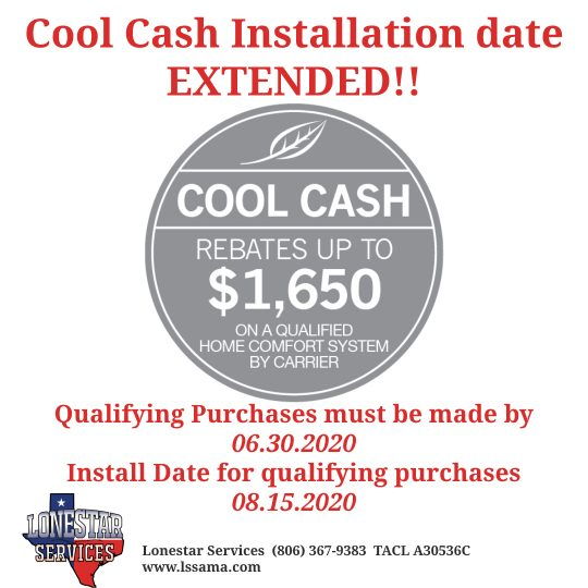 Carrier Cool Cash Dates